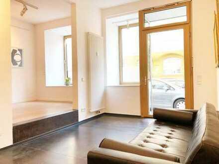 PROVISIONSFREI: Exklusives Ladenbüro bzw. Wohnen im Glockenbachviertel, Nähe Isar