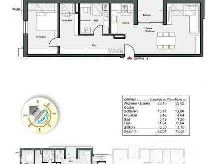 Wohnung 13 im DG / 74m² / 3,5 Zimmer