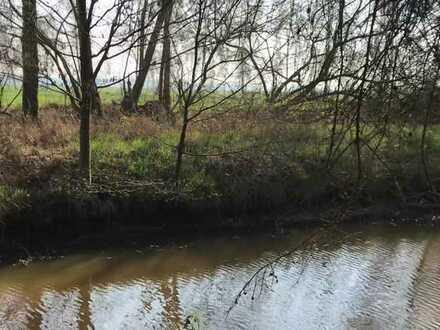 Obj.-Nr. 388 Wundervolles Freizeit / Feriengrundstück direkt am Semkenfahrtkanal