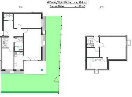 Privat - 3,5 Jahre jung - ca. 130 m² Wohn- und Nutzfläche & 105 m² Garten