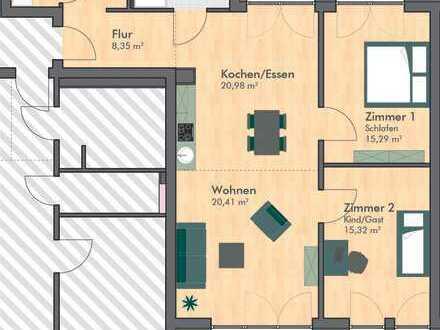 Helle 3-Zimmer-Wohnung mit 2 Terrassen