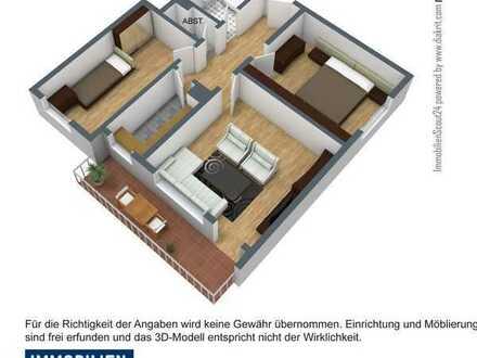 3 Zimmer Wohnung mit Balkon - zentral und doch im Grünen
