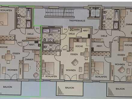 Erstbezug: ansprechende 3-Zimmer-Wohnung mit Balkon in Jengen (Whg. 211)