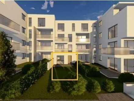 Erstvermietung der exklusiven 1,5-Zimmer Terrassen-Wohnung in der Egeleer Strasse.