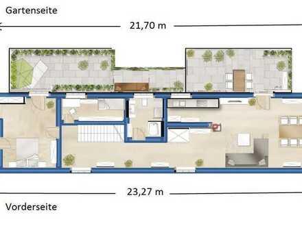 3 Zimmer- Terrassenwohnung in Unterbilk