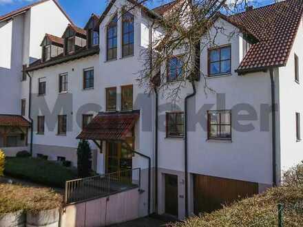 Naturnah und komfortabel: Moderne 3,5-Zi.-Maisonette mit Balkon und TG-Stellplatz nahe Augsburg