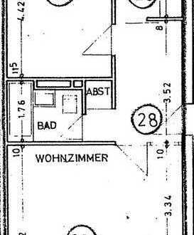 Schöne 2,5 Zimmer Wohnung i 3. OG