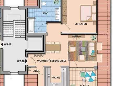 Erstbezug mit Einbauküche und Südloggia: attraktive 2-Zimmer-DG-Wohnung in Gengenbach