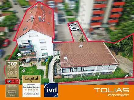 Anleger-Appetithappen! Gebäudekomplex, 11 Wohnungen + 1 Gewerbefläche + 3 Garagen + 9 Stellplätze