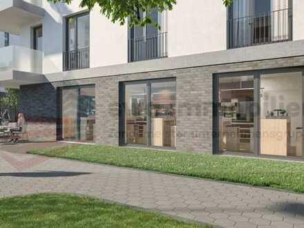 Hochwertiger Neubau am Lindenauer Hafen - optimal für einen Backshop mit Café!