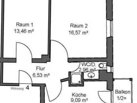 Modernisierte 2-Zimmer-Wohnung mit Balkon und EBK in Augsburg