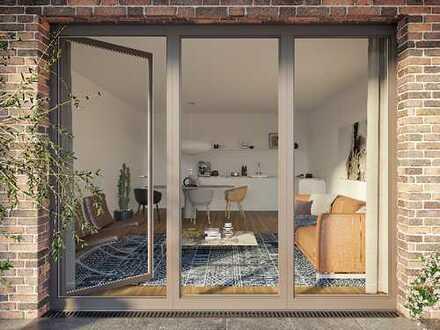 Plus an Lebensqualität: Moderne Paarwohnung mit Terrasse und Privatgarten