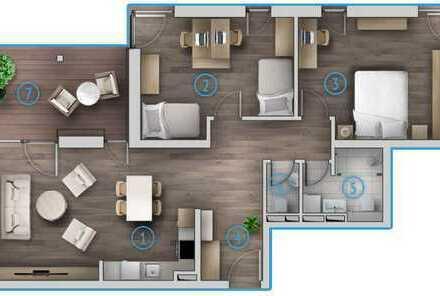 Exklusive 3 Zimmerwohnung im Obergeschoss