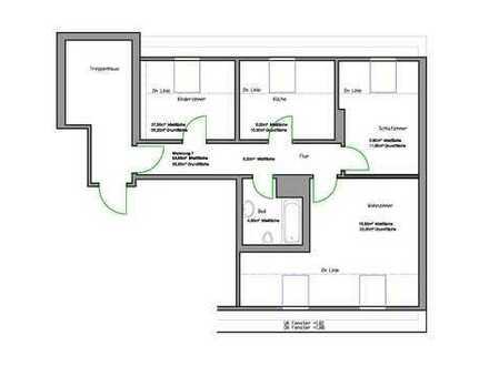 Schöne 3-Zimmer-Wohnung in Neukirchen (Grundfläche 66 m²)