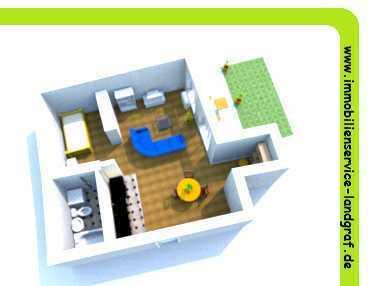 Viel Wohnraum zum kleinen Preis - 1 Raum Wohnung im EG mit Terrasse