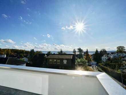 RESERVIERT: Penthouse-Etage am Waldrand mit Dachterrasse und Blick auf den Bodensee