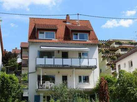 Attraktive 6-Zimmer-Maisonette-Wohnung, Aufstockung 1997, in Hirschberg-Großsachsen