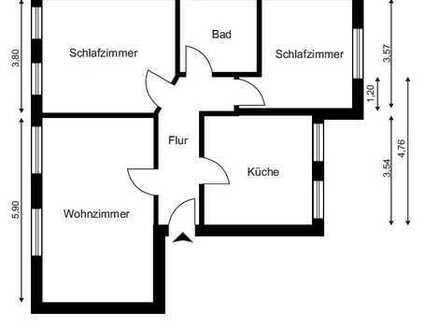 Ansprechende, gepflegte 2,5-Zimmer-Dachgeschosswohnung zur Miete in Holzwickede