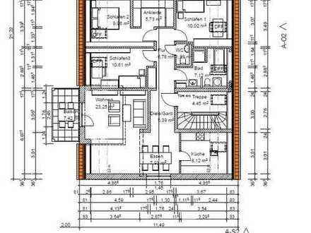Erstbezug mit Balkon: stilvolle Dachgeschosswohnung mit 5 Zimmern in Hettenshausen