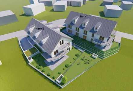 WOHNEN AUF DEM LAND MIT DER NÄHE ZUR STADT - Haus 2: 4 Zi-Wo (barrierefrei) mit Terrasse und Garten