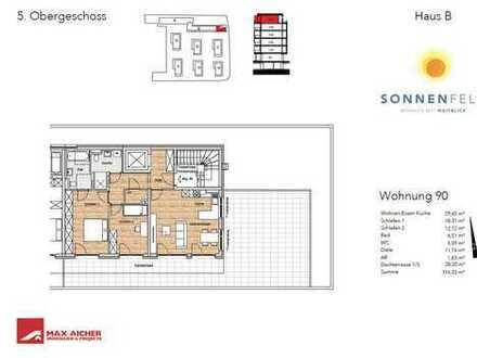 Wohnpark Sonnenfeld, 3-Zimmer, Wohnung 90