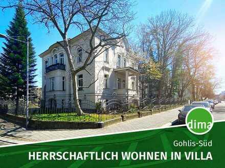 Gohliser Stadtvilla, Kamin, separate Küche mit Einbauküche, 2 Tageslichtbäder, 3 Balkone, Keller