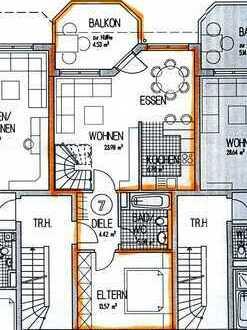 Gepflegte 4,5-Zimmer-Maisonette-Wohnung mit Balkon in Oberboihingen