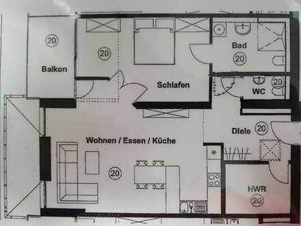 Erstbezug nach Sanierung mit Balkon: ansprechende seniorengerechte 2,5-Zimmer-Wohnung in Werne
