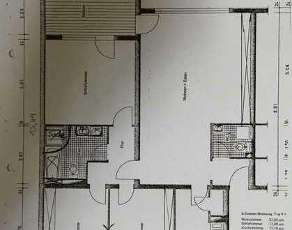 Exklusive, modernisierte 3-Zimmer-Wohnung mit Balkon und Einbauküche in Rodenbach