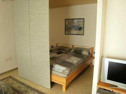 möblierte 1-Zimmerwohnung mit TV, Terrasse, Küche, Du/Wc, Waschmaschine, ab 1 Monat mietbar