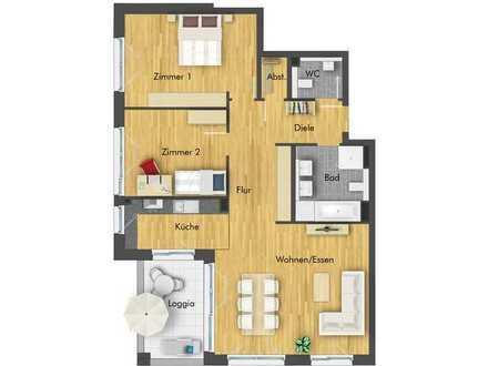 Helle und großzügige 3-Zimmer-Wohnung