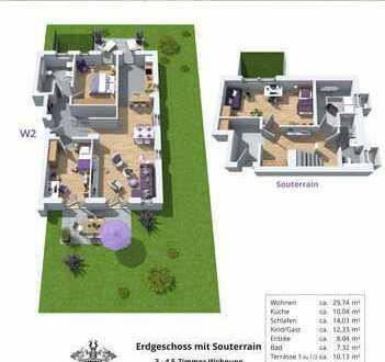 Wohnflair auf zwei Etagen! Moderne Neubaueigentumswohnung in Dinslaken Hiesfeld