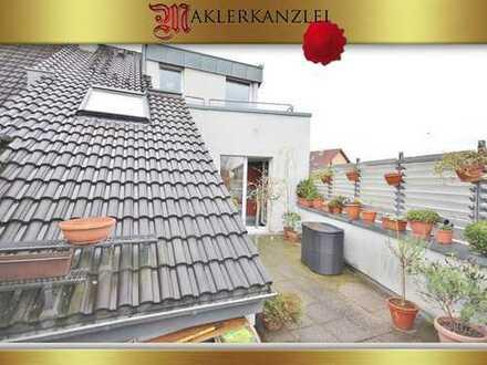 +++ NEU +++ Penthouse-Maisonette mit 17 m² Dachterrasse in der Mitte von Hilden zu verkaufen