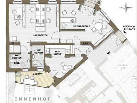 Erstbezug nach Sanierung in bester Lage - erweiterbare Bürofläche im Theatercafé zu vermieten