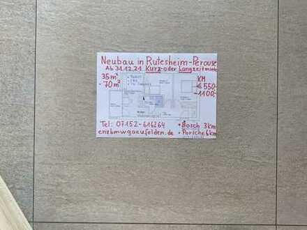 Erstbezug: stilvolle 2-Zimmer-DG-Wohnung mit EBK und Balkon in Rutesheim