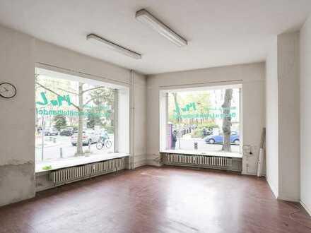 DE/EN: begehrte Ecklage mit sehr großen Schaufenstern inmitten des Rheingauviertel