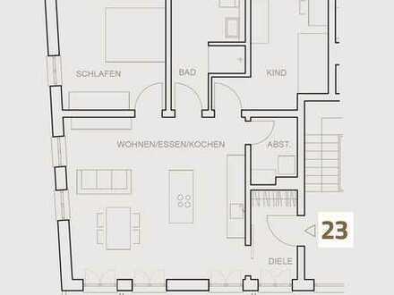 Erstbezug mit EBK und Balkon: attraktive 3,5-Zimmer-Wohnung in Neustadt an der Donau