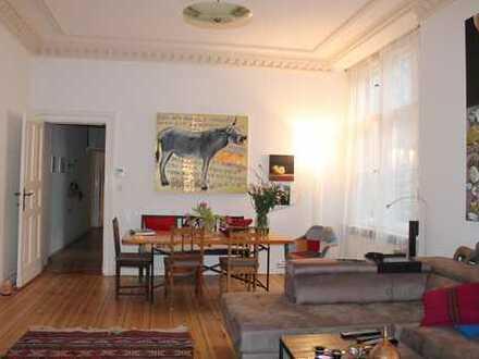 2er WG, helles 70qm Zimmer + Wohnzimmer mit Stuck in 145qm Altbau Wohnung, Schöneberg Akazienkiez