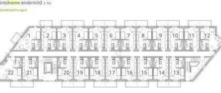 modernes, vollmöbliertes 1 Zimmer Apartment