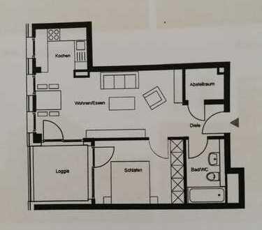 Exklusive 2,5-Zimmer-Wohnung mit Loggia in Böblingen (Flugfeld)