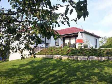 Alles auf einer Ebene-Einfamilienhaus mit großem Garten