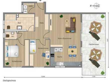 Beste LUXUS-Wohnung in 93309 Kelheim, Aufzug, 2 TG, Dach-Wintergarten + Terrasse, Fernblick. Frei.