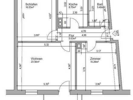 Tolle 3-Zimmer-Hochparterre-Wohnung mit Balkon in Baden-Baden
