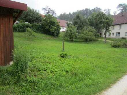 Bauplatz Sigmaringen Oberschmeien,1495qm, voll erschlossenmit 2 Garagen und Carport