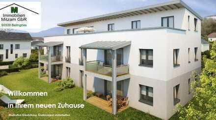 Neubau/Erstbezug: 3-Zimmer-Erdgeschoss-Whg. mit EBK, Garten u. TG-Stellplatz in Top-Lage