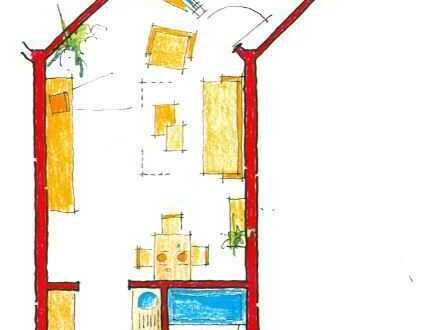 Ein-Zimmer-Appartement mit Waldblick