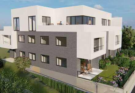 KfW40 Bauhaus-Kubus mit 6 barrierefreien ETW's - Ihre EG-ETW mit Garten ruft Sie schon!
