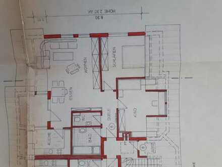 Helle, gepflegte 3,5-Zimmer-DG-Wohnung mit Dachterrasse und EBK in Murr