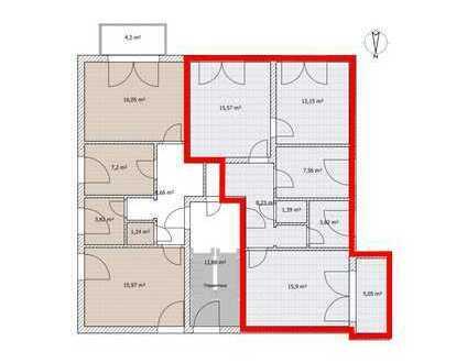 Ideal geschnittene 3-Zimmer-Wohnung mit West-Balkon in Lappersdorf Mitte