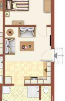 Helle 2 Zimmer-Wohnung im EG